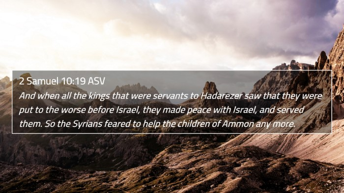 2 Samuel 10:19 ASV 4K Wallpaper - And when all the kings that were servants to - 4K Wallpaper Bible Verse