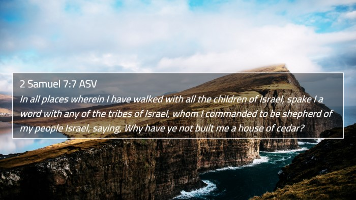 2 Samuel 7:7 ASV 4K Wallpaper - In all places wherein I have walked with all the - 4K Wallpaper Bible Verse