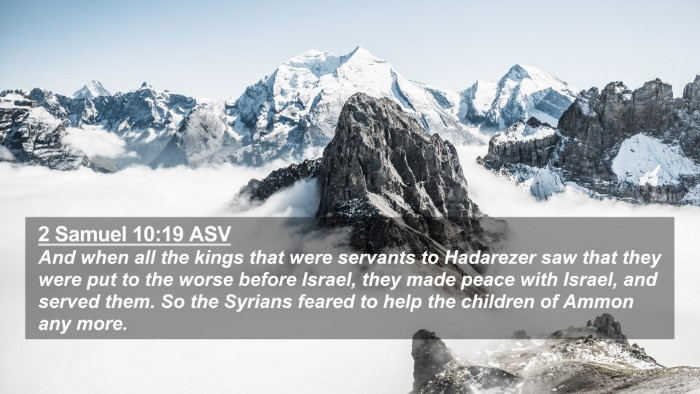 Picture 02 - 2 Samuel 10:19 ASV 4K Wallpaper - And when all the kings that were servants to - 4K Wallpaper Bible Verse