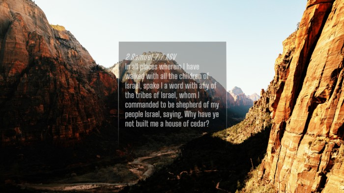 Picture 04 - 2 Samuel 7:7 ASV 4K Wallpaper - In all places wherein I have walked with all the - 4K Wallpaper Bible Verse