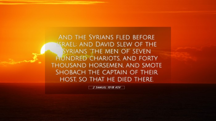 Picture 05 - 2 Samuel 10:18 ASV 4K Wallpaper - And the Syrians fled before Israel; and David - 4K Wallpaper Bible Verse