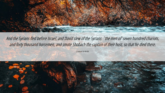 Picture 06 - 2 Samuel 10:18 ASV 4K Wallpaper - And the Syrians fled before Israel; and David - 4K Wallpaper Bible Verse