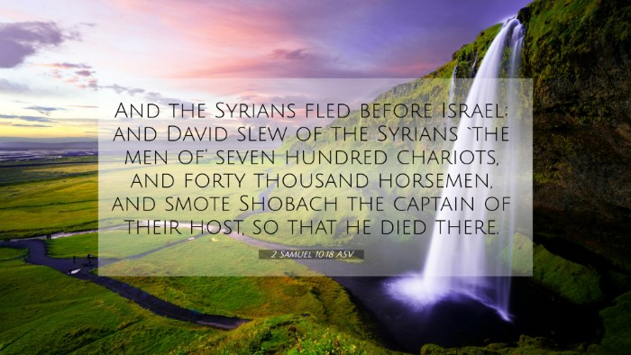 Picture 07 - 2 Samuel 10:18 ASV 4K Wallpaper - And the Syrians fled before Israel; and David - 4K Wallpaper Bible Verse