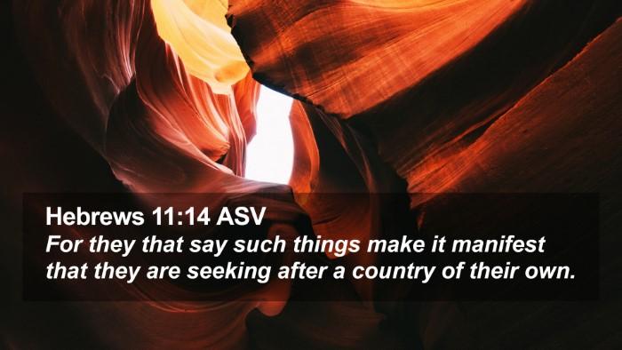 Hebrews 11:14 ASV Desktop Wallpaper - For they that say such things make it manifest - Desktop Bible Verse Wallpaper