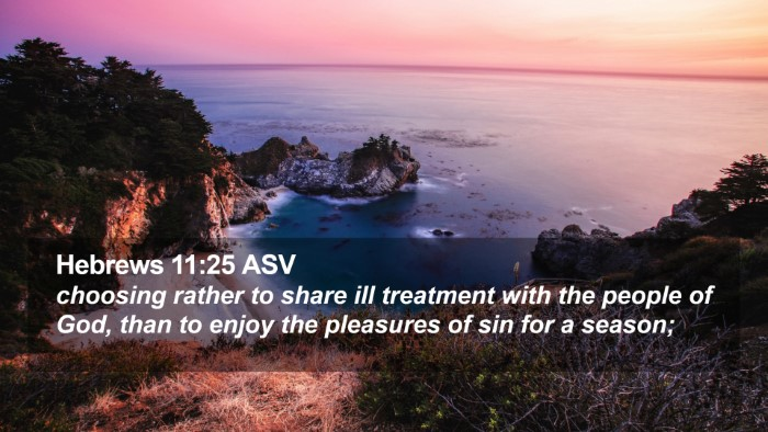 Hebrews 11:25 ASV Desktop Wallpaper - choosing rather to share ill treatment with the - Desktop Bible Verse Wallpaper