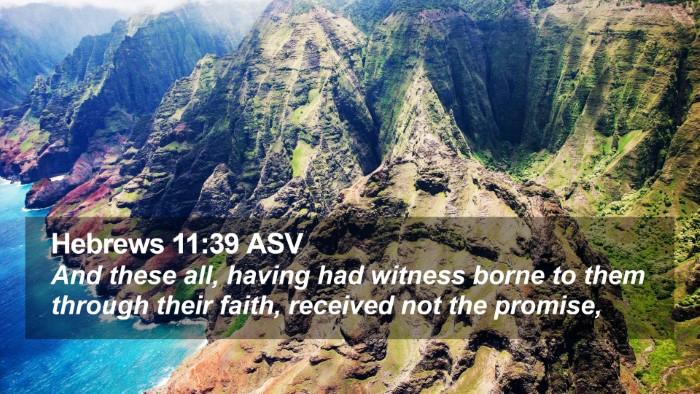 Hebrews 11:39 ASV Desktop Wallpaper - And these all, having had witness borne to them - Desktop Bible Verse Wallpaper