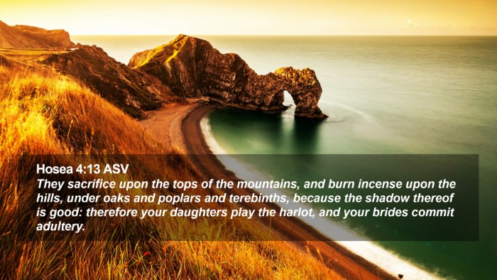 Hosea 4:13 ASV Desktop Wallpaper - They sacrifice upon the tops of the  mountains,