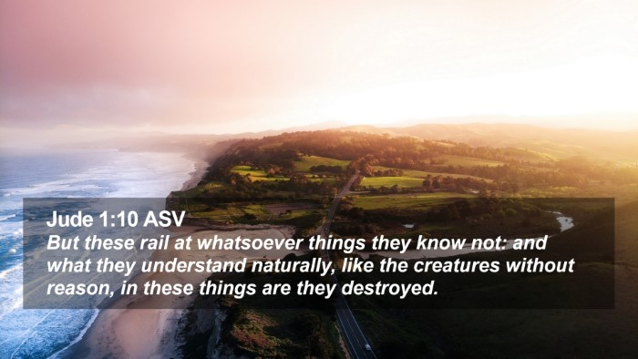Jude 1:10 ASV Desktop Wallpaper - But these rail at whatsoever things they know - Desktop Bible Verse Wallpaper