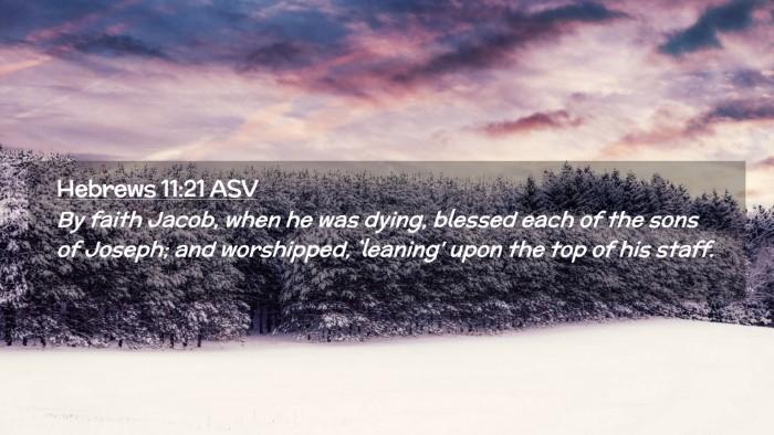 Picture 02 - Hebrews 11:21 ASV Desktop Wallpaper - By faith Jacob, when he was dying, blessed each - Desktop Bible Verse Wallpaper