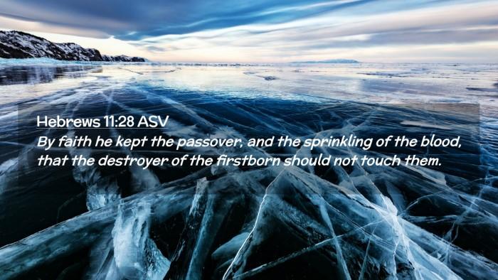 Picture 02 - Hebrews 11:28 ASV Desktop Wallpaper - By faith he kept the passover, and the sprinkling - Desktop Bible Verse Wallpaper