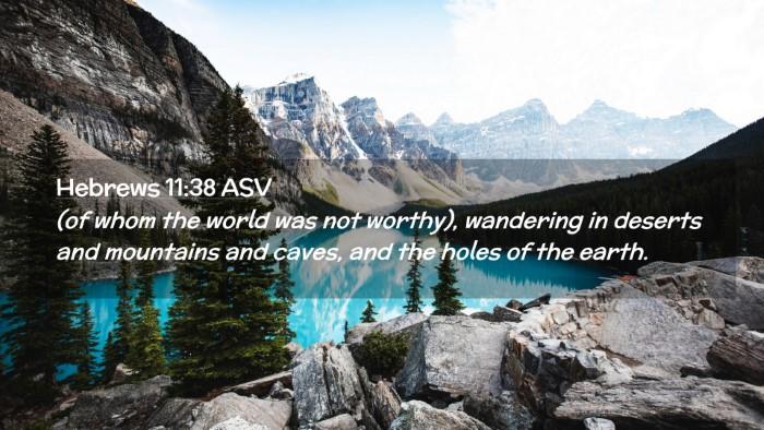 Picture 02 - Hebrews 11:38 ASV Desktop Wallpaper - (of whom the world was not worthy), wandering in - Desktop Bible Verse Wallpaper