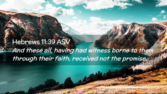 Picture 02 - Hebrews 11:39 ASV Desktop Wallpaper - And these all, having had witness borne to them - Desktop Bible Verse Wallpaper