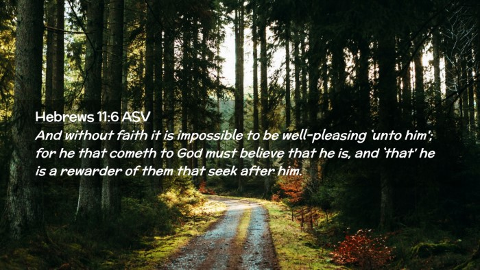 Picture 02 - Hebrews 11:6 ASV Desktop Wallpaper - And without faith it is impossible to be - Desktop Bible Verse Wallpaper