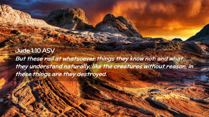 Picture 02 - Jude 1:10 ASV Desktop Wallpaper - But these rail at whatsoever things they know - Desktop Bible Verse Wallpaper