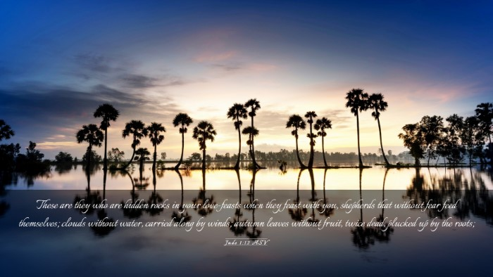 Picture 03 - Jude 1:12 ASV Desktop Wallpaper - These are they who are hidden rocks in your - Desktop Bible Verse Wallpaper