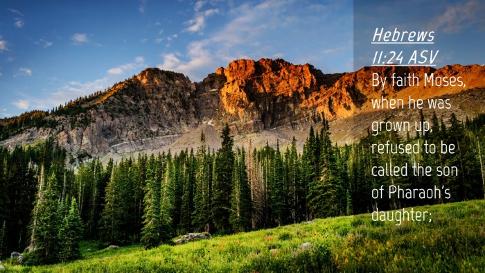 Picture 04 - Hebrews 11:24 ASV Desktop Wallpaper - By faith Moses, when he was grown up, refused to - Desktop Bible Verse Wallpaper