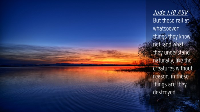 Picture 04 - Jude 1:10 ASV Desktop Wallpaper - But these rail at whatsoever things they know - Desktop Bible Verse Wallpaper