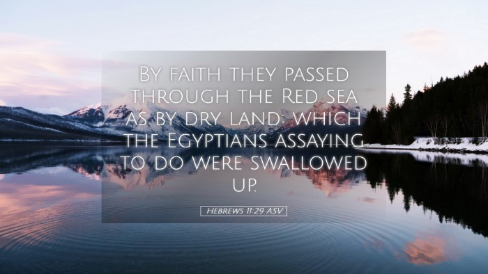 Picture 05 - Hebrews 11:29 ASV Desktop Wallpaper - By faith they passed through the Red sea as by - Desktop Bible Verse Wallpaper
