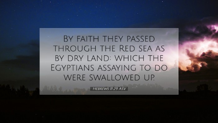 Picture 07 - Hebrews 11:29 ASV Desktop Wallpaper - By faith they passed through the Red sea as by - Desktop Bible Verse Wallpaper