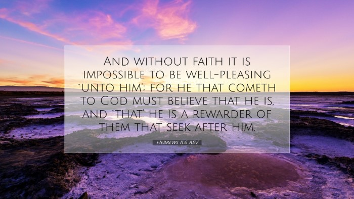 Picture 07 - Hebrews 11:6 ASV Desktop Wallpaper - And without faith it is impossible to be - Desktop Bible Verse Wallpaper