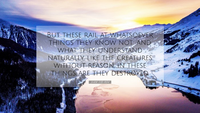 Picture 07 - Jude 1:10 ASV Desktop Wallpaper - But these rail at whatsoever things they know - Desktop Bible Verse Wallpaper