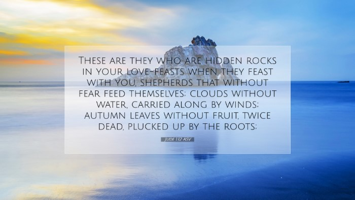 Picture 07 - Jude 1:12 ASV Desktop Wallpaper - These are they who are hidden rocks in your - Desktop Bible Verse Wallpaper