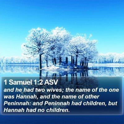 1 Samuel 1:2 ASV Bible Verse Image