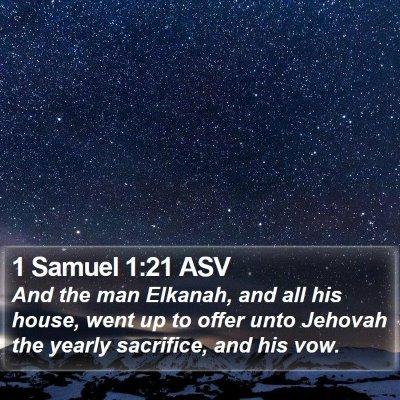 1 Samuel 1:21 ASV Bible Verse Image
