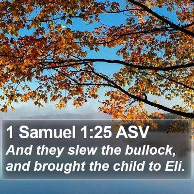 1 Samuel 1:25 ASV Bible Verse Image