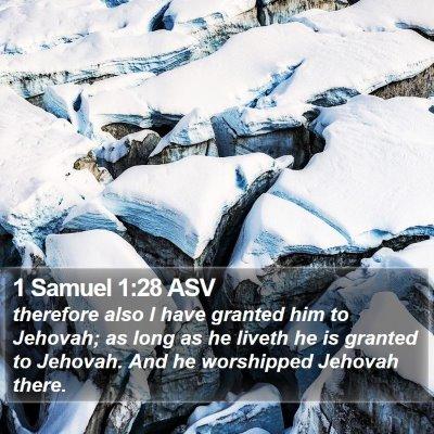 1 Samuel 1:28 ASV Bible Verse Image