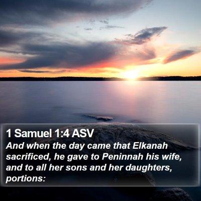 1 Samuel 1:4 ASV Bible Verse Image