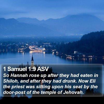 1 Samuel 1:9 ASV Bible Verse Image