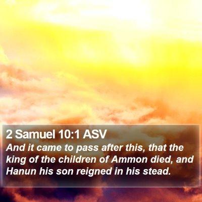 2 Samuel 10:1 ASV Bible Verse Image
