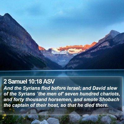 2 Samuel 10:18 ASV Bible Verse Image