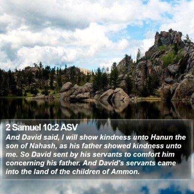 2 Samuel 10:2 ASV Bible Verse Image