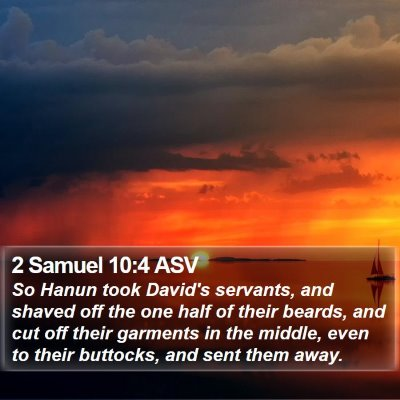 2 Samuel 10:4 ASV Bible Verse Image