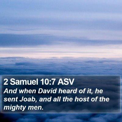 2 Samuel 10:7 ASV Bible Verse Image