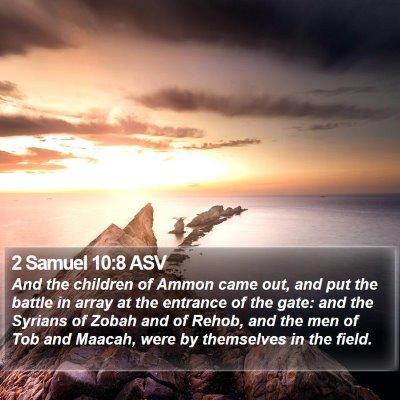 2 Samuel 10:8 ASV Bible Verse Image