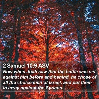 2 Samuel 10:9 ASV Bible Verse Image