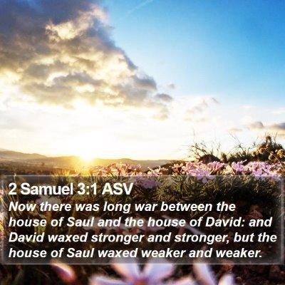 2 Samuel 3:1 ASV Bible Verse Image