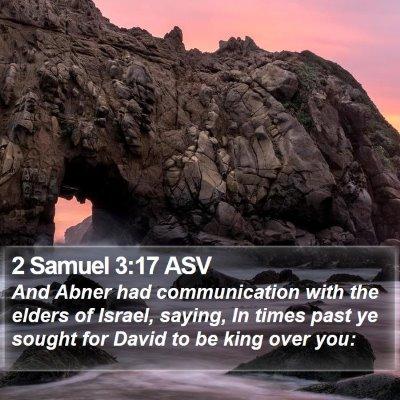 2 Samuel 3:17 ASV Bible Verse Image