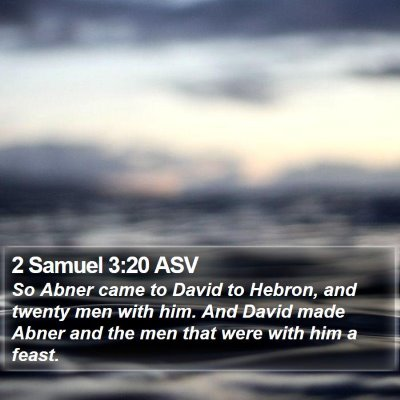 2 Samuel 3:20 ASV Bible Verse Image