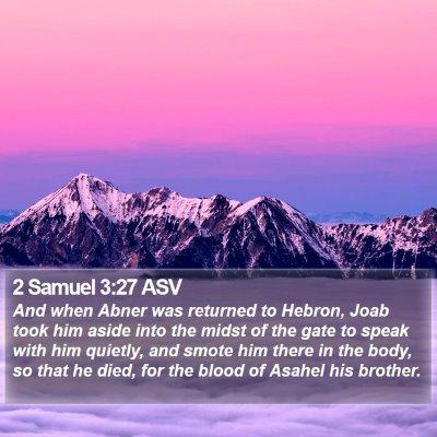 2 Samuel 3:27 ASV Bible Verse Image