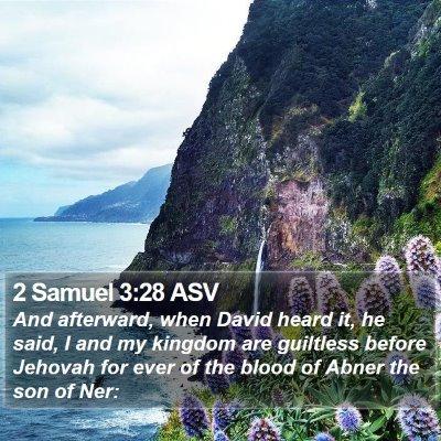 2 Samuel 3:28 ASV Bible Verse Image