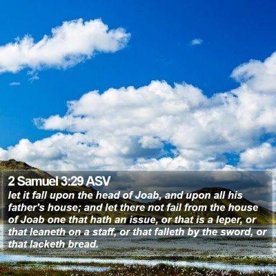 2 Samuel 3:29 ASV Bible Verse Image