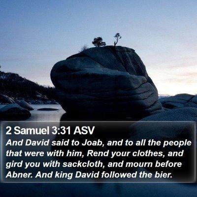 2 Samuel 3:31 ASV Bible Verse Image