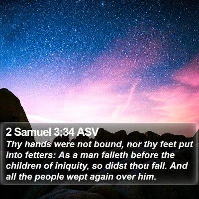 2 Samuel 3:34 ASV Bible Verse Image