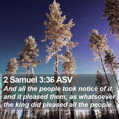 2 Samuel 3:36 ASV Bible Verse Image