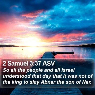 2 Samuel 3:37 ASV Bible Verse Image