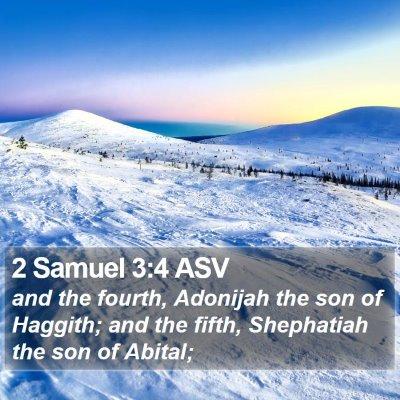 2 Samuel 3:4 ASV Bible Verse Image